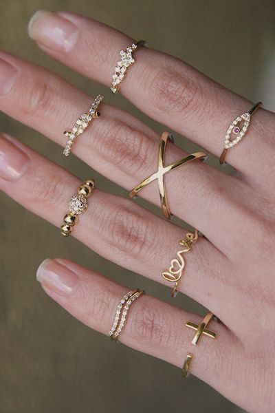 Gold Isabel Above The Midi Ring Knuckle Ring from Kellinsilver.com