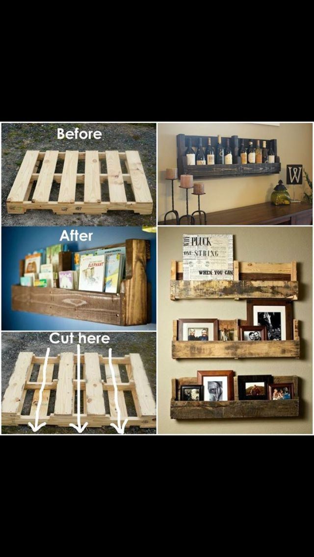 Wish I could get an empty pallet from work and make these! Love it!