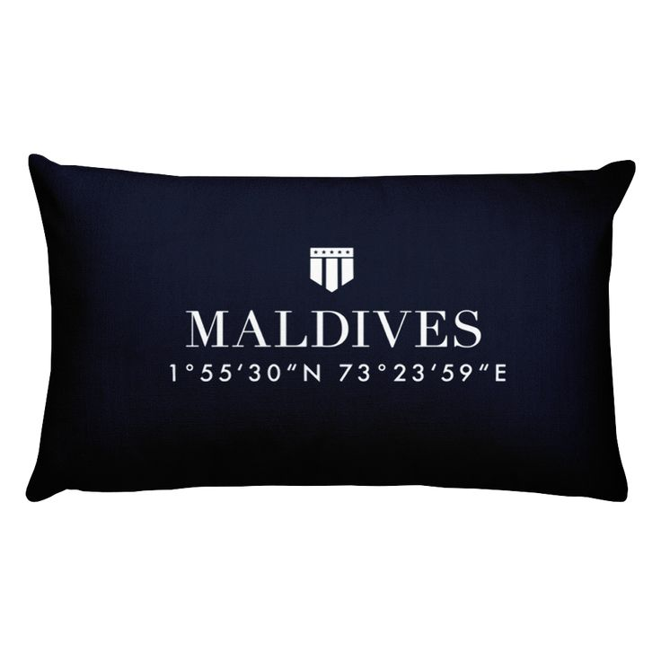 Maldives Pillow with Coordinates