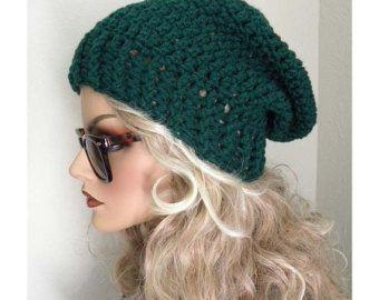 Sombrero azul Slouchy mujer sombrero gorrita por FreeSpiritHats