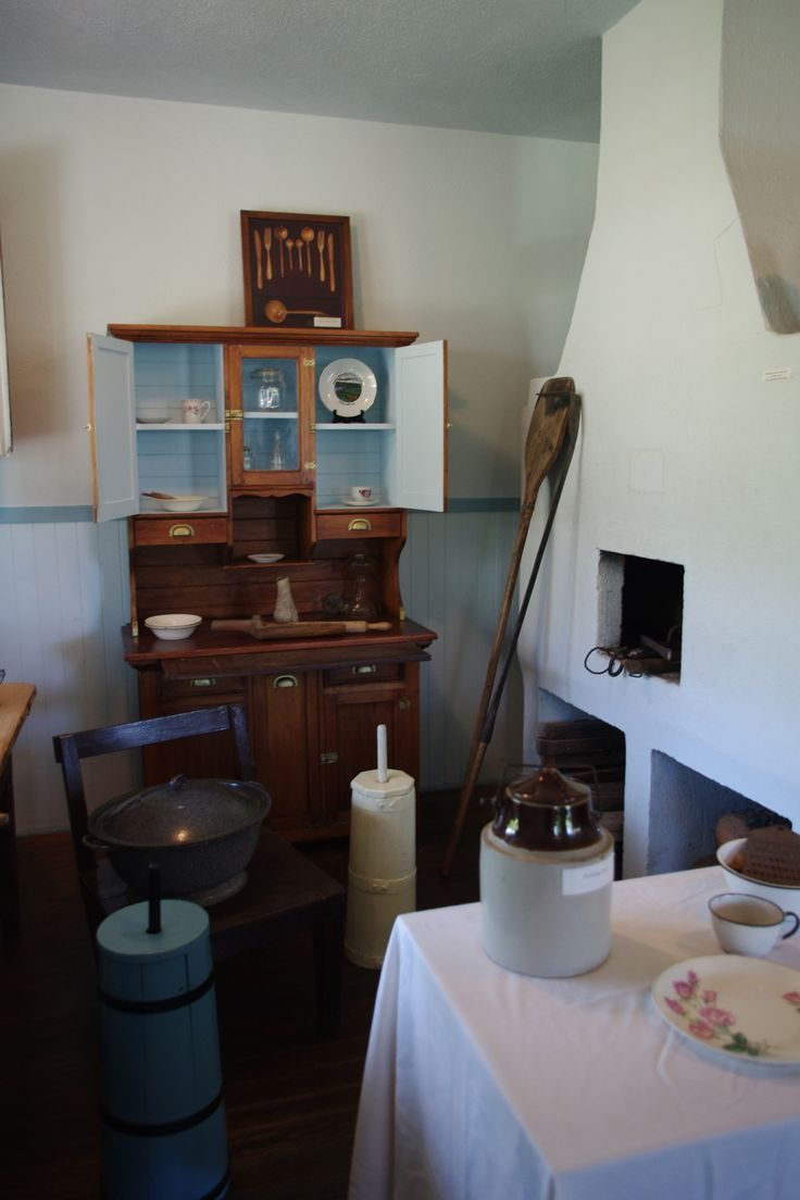 The bread oven in the kitchen of the Communal Dom (Home) at the Doukhobor Discovery Centre.