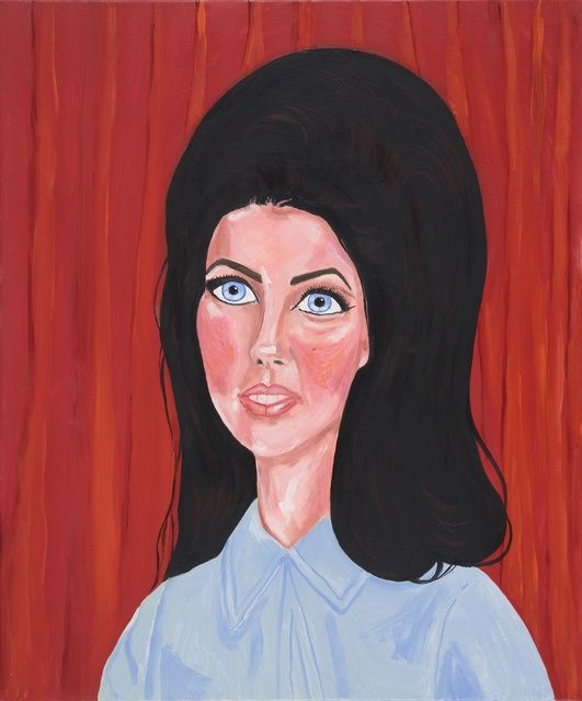 STELLA VINE 'Priscilla', or 'I LOVED him with all my heart', 2014 Oil on canvas 23 3/5 × 19 7/10 in