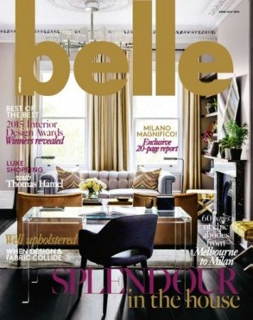 Interior Design Magazines Belle June July 2015