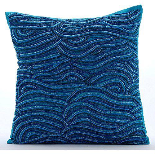 Handmade Blue Decorative Pillows Cover, Beaded Ombre Sea ... https://www.amazon.com/dp/B01645ZH2A/ref=cm_sw_r_pi_dp_x_lXGcybD488FD0