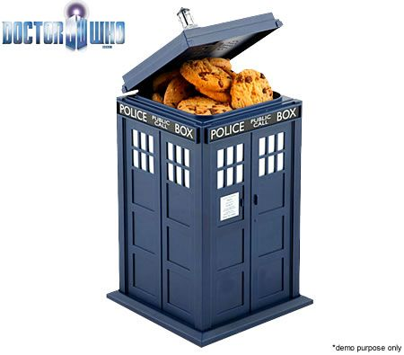 Doctor Who Tardis Cookie Jar with Light and Sound