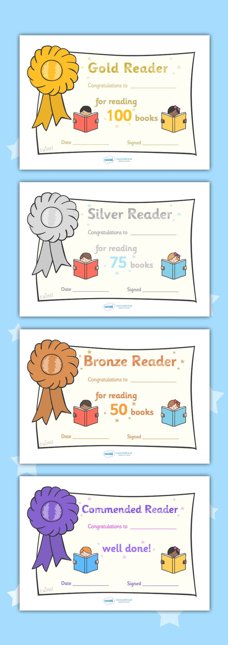 Twinkl Resources >> Editable Book Reading Certificates  >> Classroom printables for Pre-School, Kindergarten, Primary School and beyond! editable, printable, reading, home school, guided reading