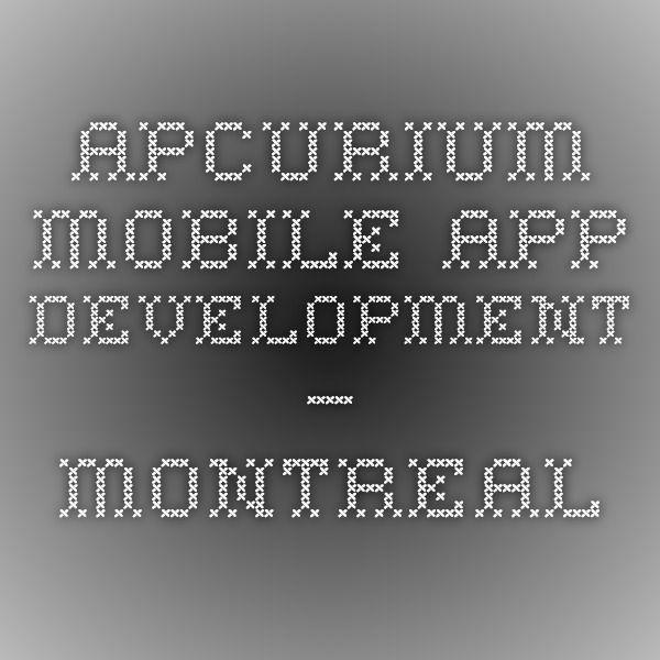 Apcurium - Mobile App Development – Montreal