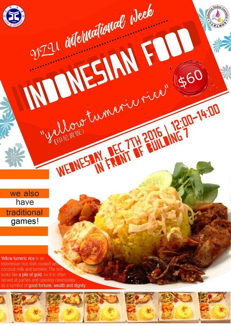 Indonesian food bazaar poster