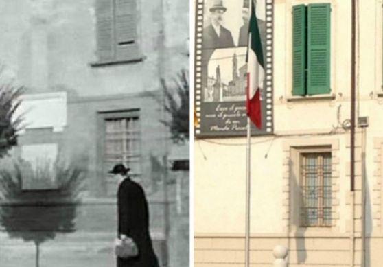 Nel 41esimo anniversario della morte di Gino Cervi (Peppone), morto il 3 gennaio 1974, e a più di 60 anni dal primo dei cinque film della saga di Peppone e Don Camillo (Don Camillo, 1952), guardate in questo raffronto come sono cambiati i luoghi e i personaggi di Brescello - FOTO Brescello, il paese-museo