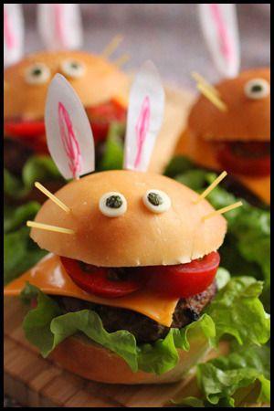 ウサギのハンバーガーとイースターパーティー★