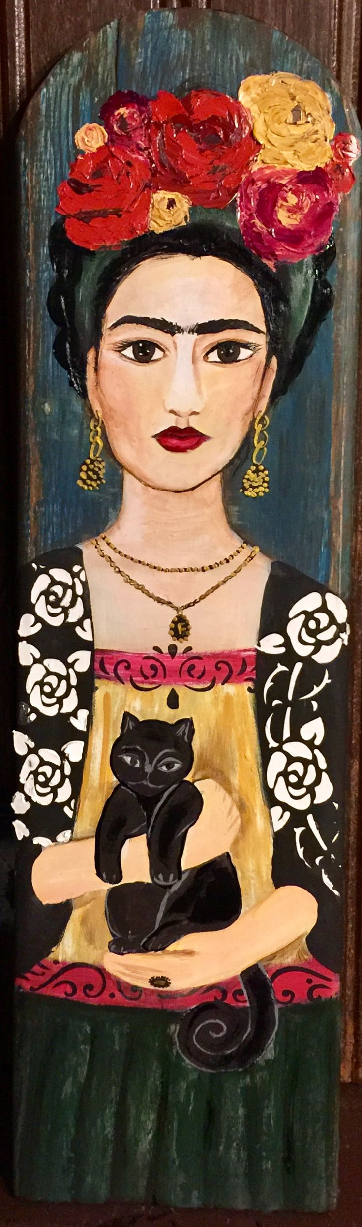 Frida with a cat