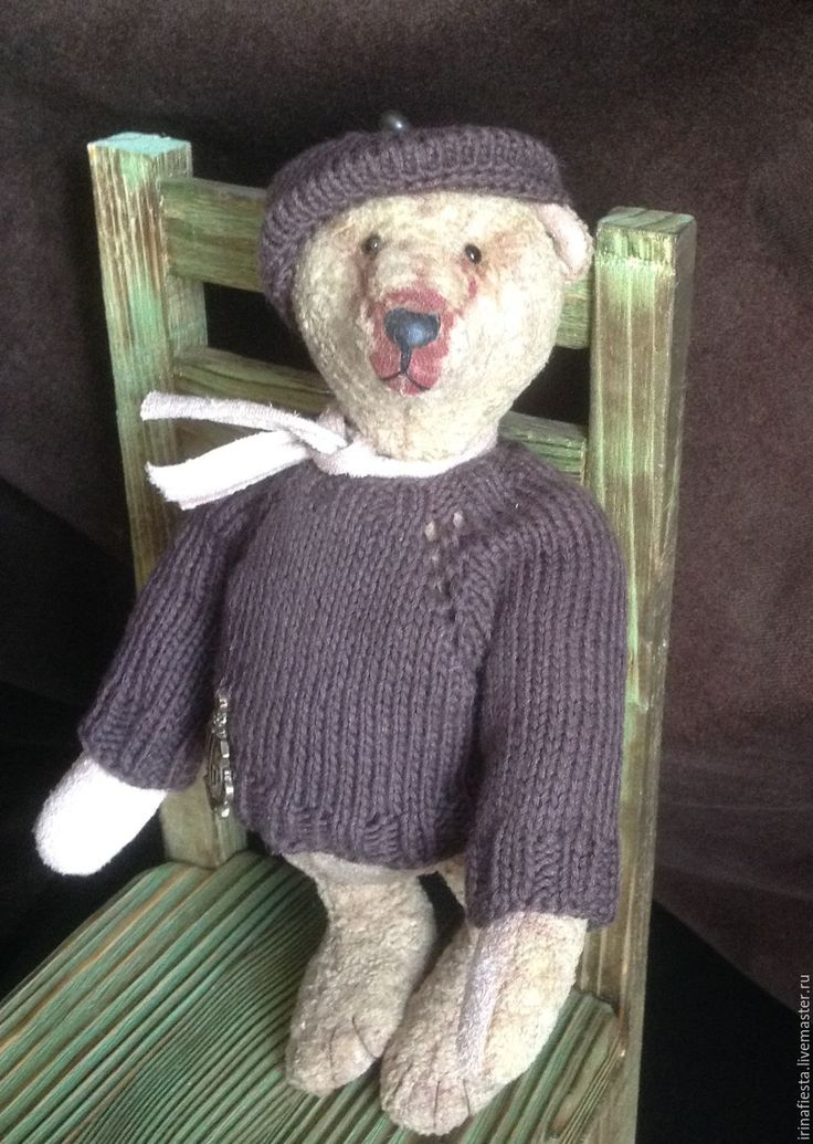 Купить Мишка тедди Колян - бежевый, Винтажный плюш, мишка тедди, Плюшевый мишка, мишутка