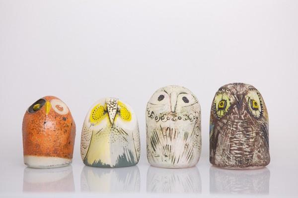 clay owls by Fair Folks & A Goat