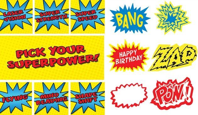 free printable superhero logos | Kids Party Hub: FREE Superhero Party Printables