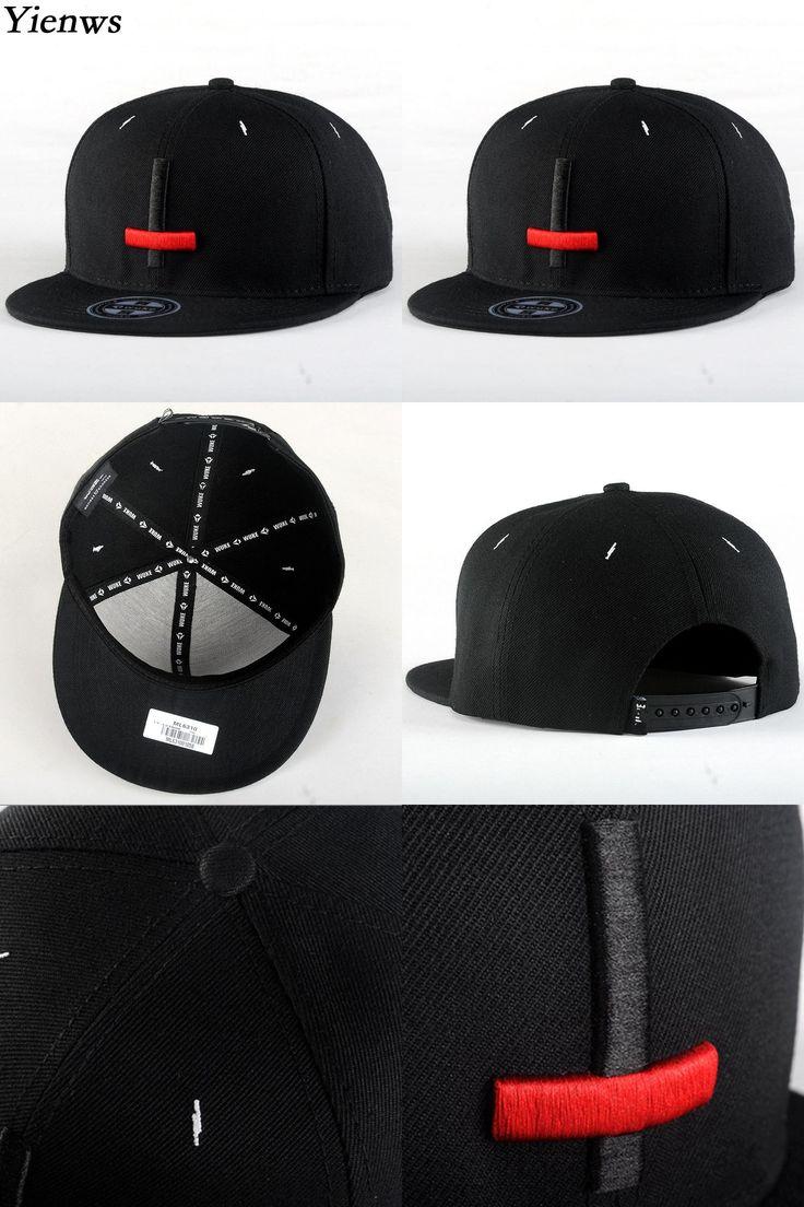 [Visit to Buy] Yienws Bone Aba Reta Brand Black Snapback Cap For Men Women Hip Hop Gorras Planas Male Summer Panel Cap Youth Flat Brim Hats 888 #Advertisement