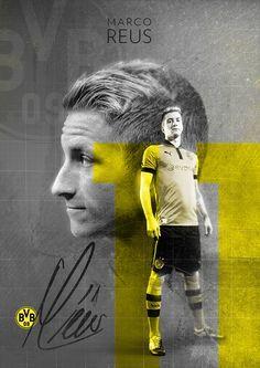 Marco Reus   BVB Borussia Dortmund on Behance   by Stephen Pecoraro --- Marco Reus Trikot 2015 bei Amazon: http://amzn.to/1L37NTC --- #Bundesliga #BVB #EchteLiebe #Fussball #Dortmund