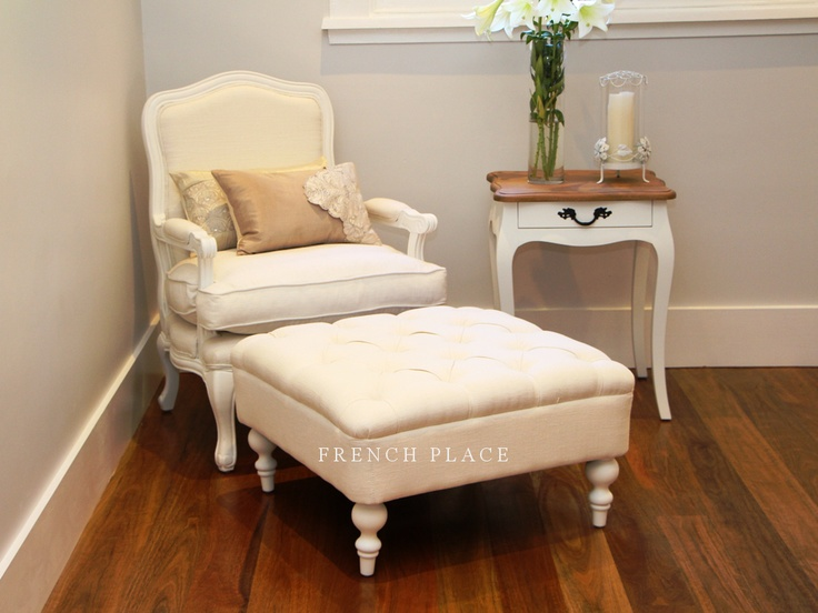 Chair & ottoman #frenchprovincial   French provincial furniture... LOVE love love it