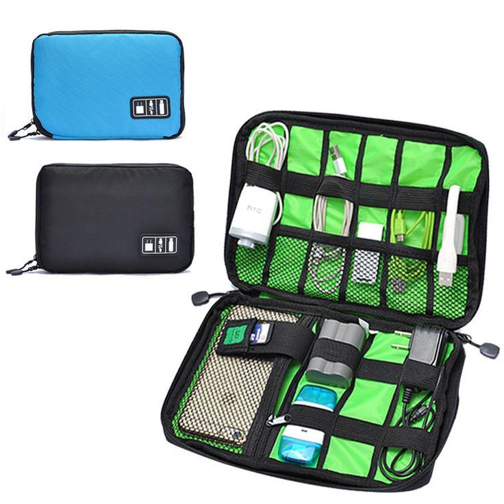 Novos Acessórios Eletrônicos Saco de Viagem Nylon Mens Organizador da Viagem Para A Linha de Data Cabo USB Cartão SD Digital Saco Dispositivo