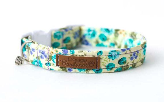 Hey, I found this really awesome Etsy listing at https://www.etsy.com/listing/288847735/floral-dog-collar-yellow-flowers-dog