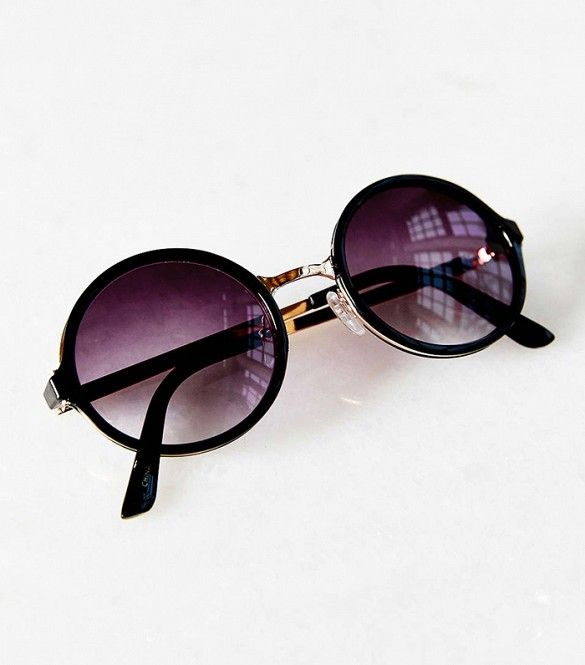 Urban Outfitters Both Worlds Round Sunglasses // Round sunglasses with purple lenses