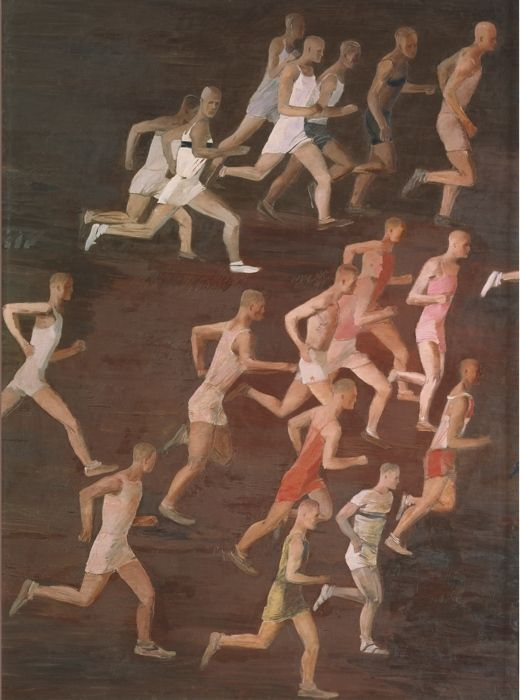 Aleksander Deineka, Race, 1932 . Oil on canvas, 180 x 135 The Association of Historical and Regional Art,  Tula Photo © Provided with assistance from the  State Museum and Exhibition Center ROSIZO © DACS 2016