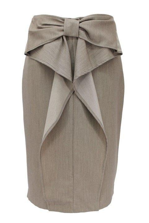 pencil skirt suit sets | Stone Bow Accent Pencil Skirt