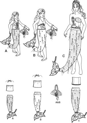 Mermaid Costume Pattern   simplicity 4043 mermaid costume child girl and miss mermaid costumes