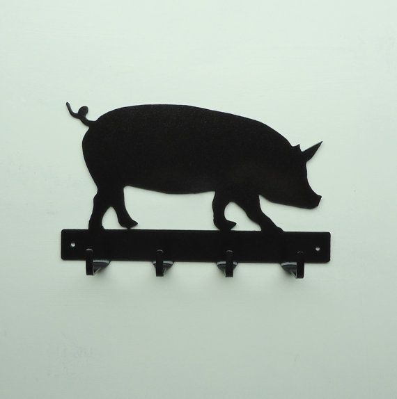 Pig Metal Art Key Rack  Free USA Shipping by KnobCreekMetalArts, $26.99