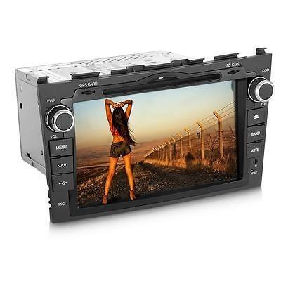 """8"""" 2 Din In-Dash Car DVD SD Bluetooth AF FM GPS 4GB Map Europe for Honda CRV"""