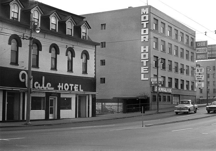 The Yale & Cecil hotels in Vancouver, Oct. 30, 1972.