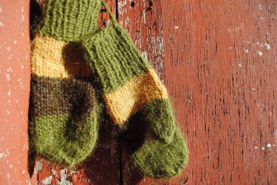 Mittens Handmade Warm Knit of icelandic wool in by Kollestrik, $90.00
