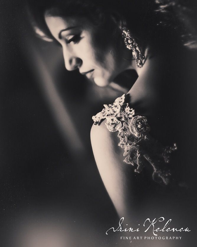 Vintage bride photo shooting