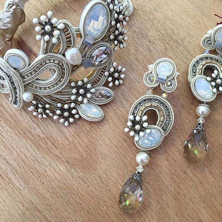 Stardust stunning upper arm bracelet and crystal drop earrings are the perfect…