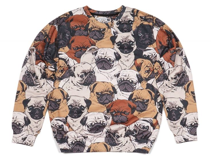 Original Printed sweater with image PUGS | Fusion® clothing!