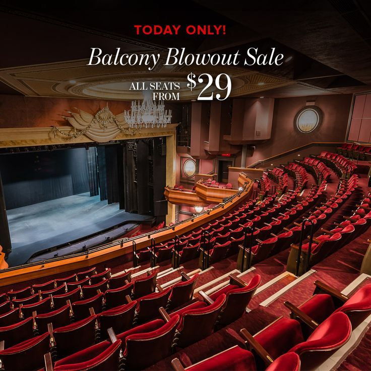 Our Balcony Blowout Sale is on NOW! Today only, ALL of our balcony seats for the rest of the season are only $29-39! Don't miss out on these incredible savings.