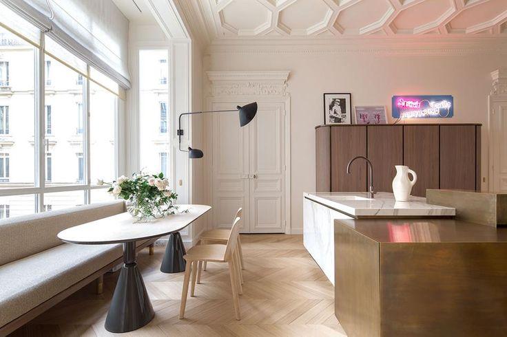 300 mq a Parigi nel 2019 Interni della cucina