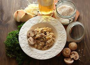 Итальянский ризотто с грибами