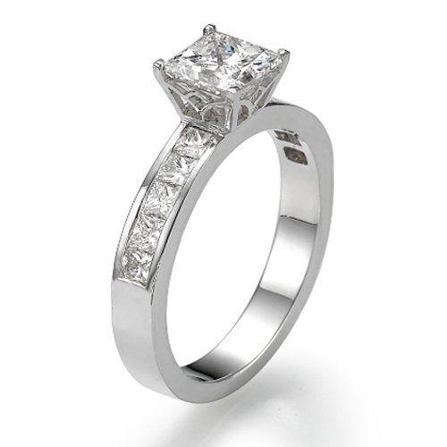 Carat Diamond Ring Princess F Color