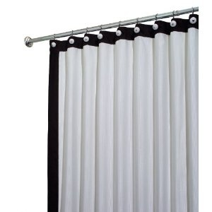 black and white shower curtain | Curtains, Striped shower ...