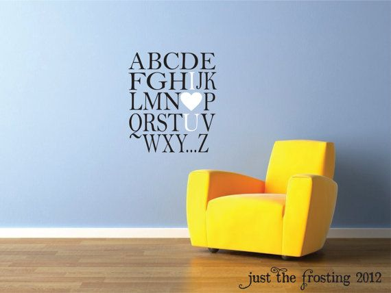 Alphabet Wall Decal Playroom Wall Decal By JustTheFrosting On Etsy Part 71