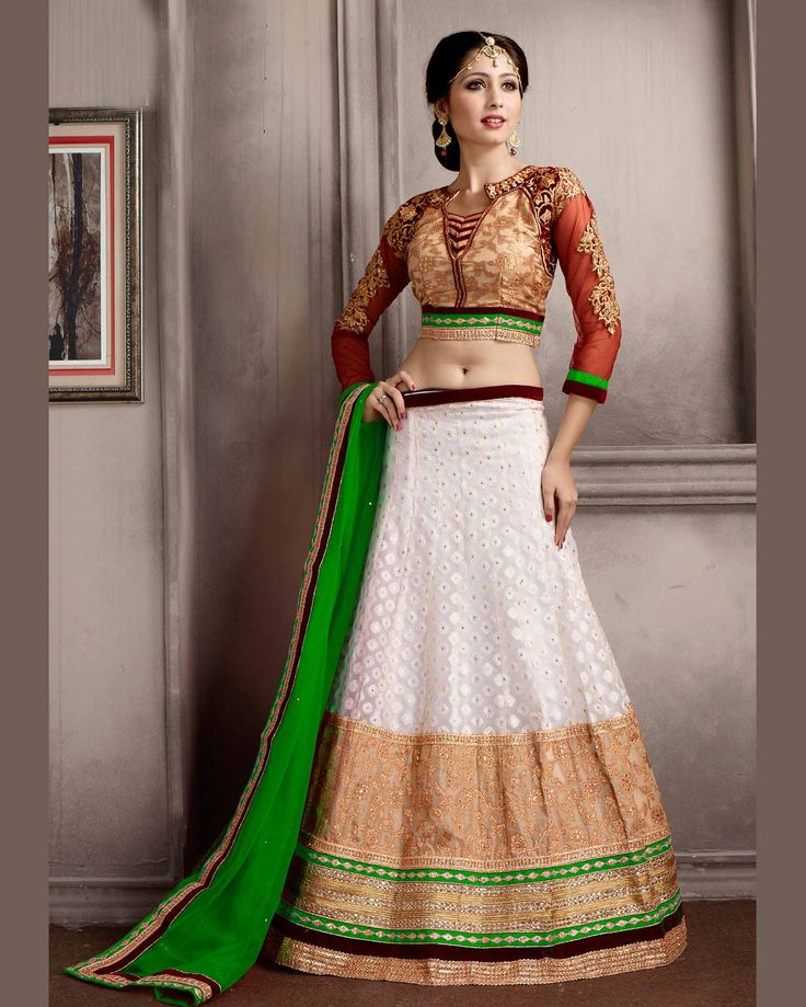 Off   White riotous Embroidered Silk Buy Lehenga Choli Online       Fabric:   Silk       Work:   Embroidered       Type:   Buy Lehenga Choli   Online       Color:   Off White                 Lehanga   Fabric   Silk       Choli Fabric