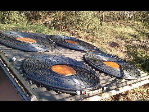 Chauffage solaire piscine 65m3 - YouTube