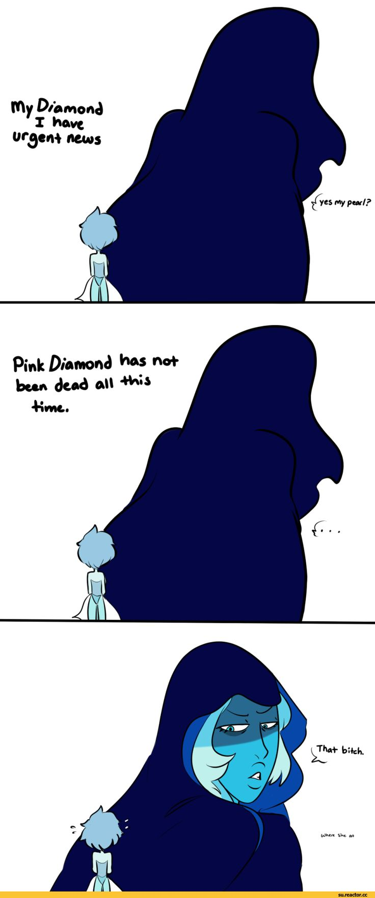 Steven universe,фэндомы,Blue Pearl,SU Персонажи,Blue Diamond,SU comics,drawendo