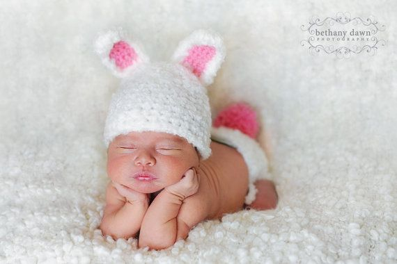 Crochet Easter Hat and Diaper Cover