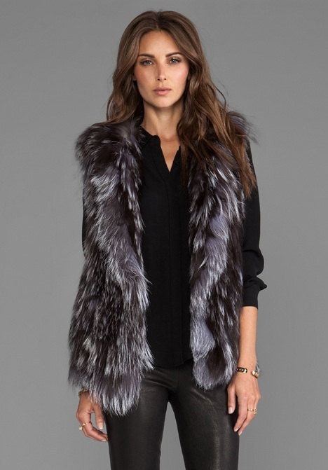 Designer Silver Fox Fur vest. by naoumaccessories on Etsy,