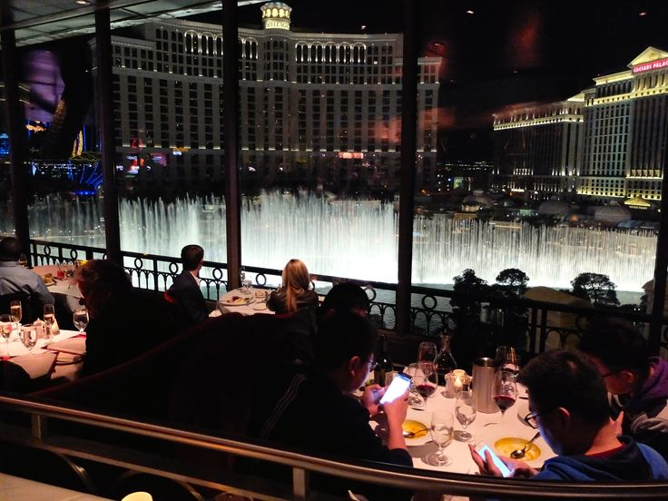 our dinner view from Eiffel Tower, Las Vegas