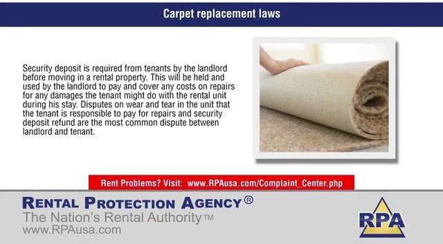 Carpet replacement laws