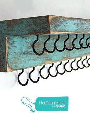Jewelry Organizer by Out Back Craft Shack: Wall Necklace Holder with Shelf & 25 hooks from Out Back Craft Shack https://www.amazon.com/dp/B0155Y8RQY/ref=hnd_sw_r_pi_dp_gku8xbQ5DQ3S4 #handmadeatamazon