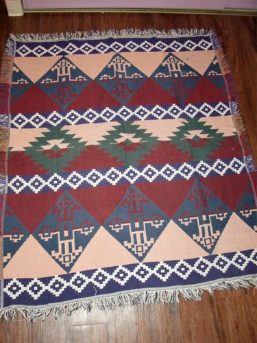 Crown Crafts Aztec Southwestern Tapestry Afghan Bed Blanket Baby Throw 52 x 64   eBay