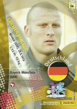 2002 Panini World Cup #56 Carsten Jancker Back
